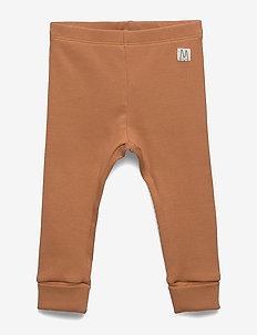 Leggings rib solid - DUSTY BROWN