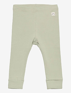 Leggings rib solid - leggings - green