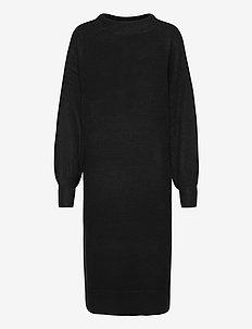 Dress Zeta - knitted dresses - black