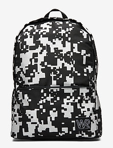 Backpack reflective print - BLACK
