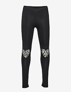Leggings leo heart kneepatch - BLACK