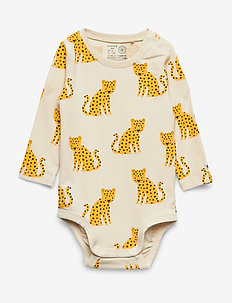 Body LS Dots   Leo - DARK DUSTY YELLOW