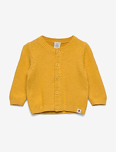 Cardigan CoP moss knit - cardigans - dark dusty yellow