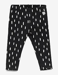 Leggings brushed dots - OFF BLACK