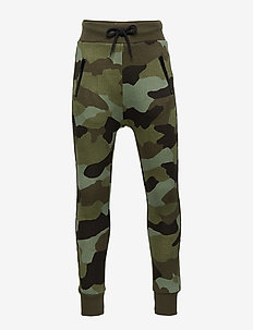 Sweatpants with camouflage pattern - DK KHAKI GREEN