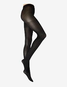 Tights 80den small diamond - undertøj - black