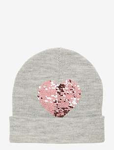 Cap knitted Flip sequins - LT GREY MELANGE