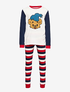Pajama SB Bamse striped uni - DK BLUE
