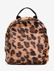 Backpack leo fur - BROWN