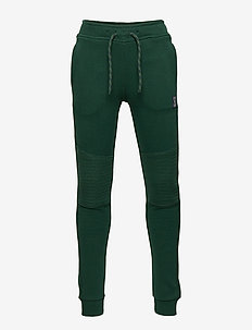 Sweatpants with reinforced knees - DK GREEN