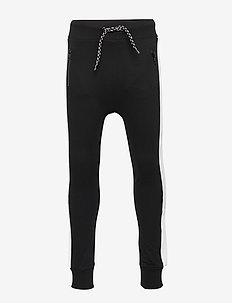 Trouser black white panel - BLACK