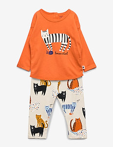 Set top leggings Cat - ORANGE
