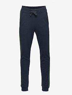 Dark navy sweatpants with side stripes - DARK NAVY