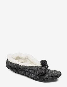 Slipper Cabel - hjemmesko - dark grey melange