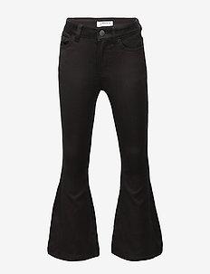 Trousers Denim flare Freya - BLACK