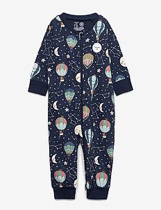 Pyjamas Stars   Balloons - DARK BLUE
