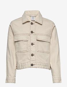 Jacket twill Ester - denimjakker - lt beige