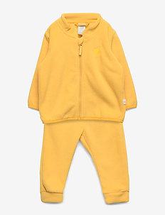 Set fleece jacket and trouser - DUSTY YELLOW