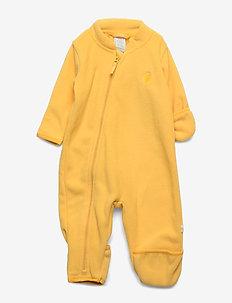Baby fleece overall - DUSTY YELLOW