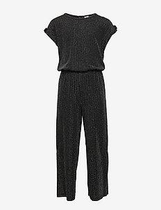 Jumpsuit lurex stripe - BLACK