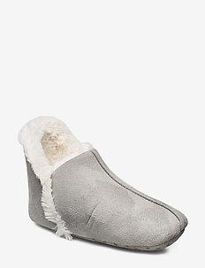 Indoor Boot Furry suede - GREY