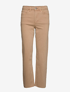 Denim trousers Nea twill cr - slim fit spodnie - light beige