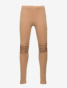 Leggings basic frill knee - leggings - light brown