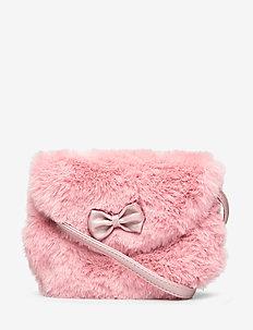 Bag fur w bow - DUSTY PINK