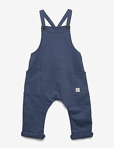 Trousers bib solid - spodnie - dk dusty blue
