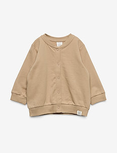 Sweater bomber patch - cardigans - beige