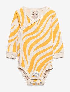 Body Wrap Zebra - dark dusty yellow