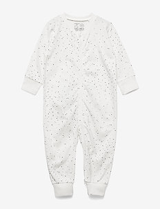 Pyjamas Rabbit at back - one-sie - light dusty white