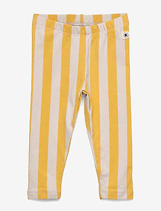 Leggings Vertical Stripe - leginsy - dark dusty yellow