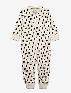 Pyjamas Leo applique - one-sie - light beige
