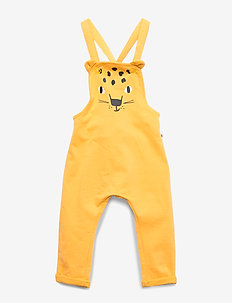Bib Leo with ears - dungarees - dark dusty yellow