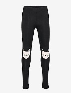 Leggings knee patch cat - BLACK