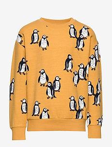 Sweater AOP Penguin - DK YELLOW