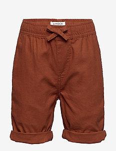 Shorts linen cot mix - szorty - brown