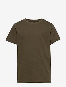 T shirt SS solid - kortärmade - dark green