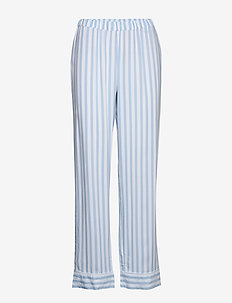 Night Trousers Woven stripe El - hosen - dusty blue