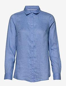 Shirt Becky Linen - koszule z długimi rękawami - dusty blue