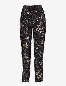 Trousers Ava aop - casual byxor - black