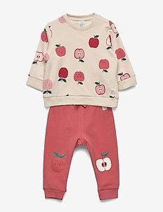 Set sweater trousers fruit - LIGHT BEIGE