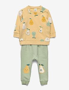 Set sweater trousers fruit - sweatshirts - light yellow