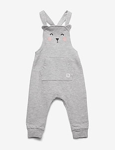Trousers bib face - dungarees - light grey melange