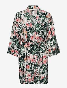Kimono Print studios aop flowe - OFF WHITE