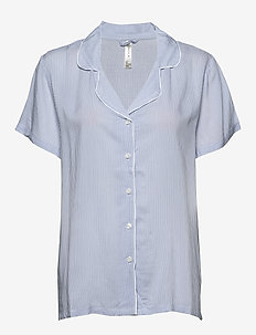 Night Shirt Woven Frenchy - oberteile - blue