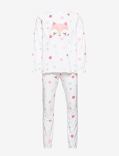 Pajama SG place fox big dots - sett - white