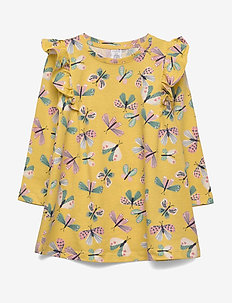 Top long a line frill butterfl - DUSTY YELLOW