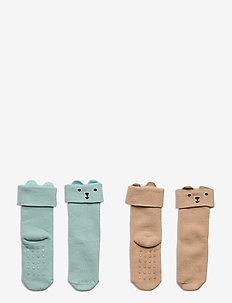 Sock 2p Baby double cuff terry - skarpety & rajstopy - light dusty aqua